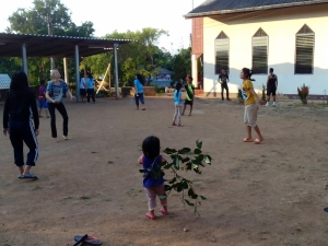Kids at play - sports raise spirits and teamwork