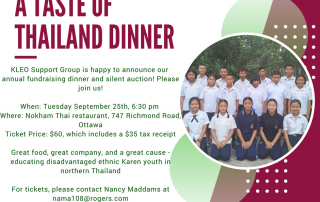ANNUAL A TASTE OF THAILAND DINNER